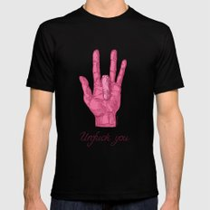 Unfuck You. Gesture LARGE Mens Fitted Tee Black