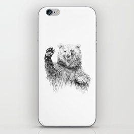 Waving Bear iPhone Skin