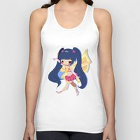 musa Tank Tops featuring Musa by gillyfleurillustration