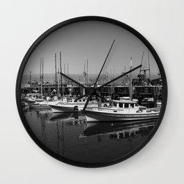 Boats At Fishermans Wharf San Francisco Wall Clock