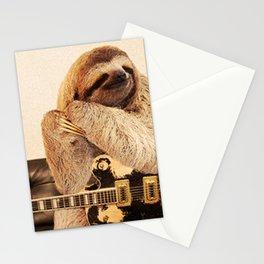 Rock Star Sloth 2# Stationery Cards