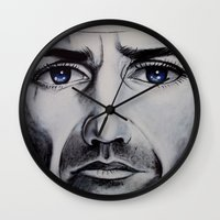 brave Wall Clocks featuring BRAVE by John McGlynn