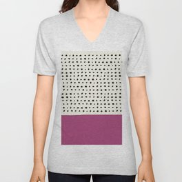 Raspberry x Dots Unisex V-Neck