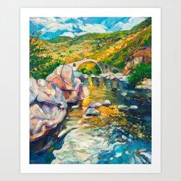 Bridge in the mountains Art Print