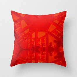 BoxHill-Red Throw Pillow