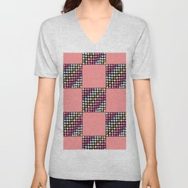 Checker Disco Unisex V-Neck