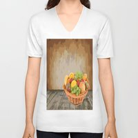 fruit V-neck T-shirts featuring fruit by Shea33