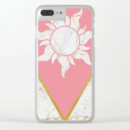 Marble Tangled Clear iPhone Case