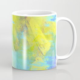 Hint Of Summer - Abstract, textured painting Coffee Mug