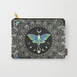 Lunar Moth Mandala with Background Carry-All Pouch