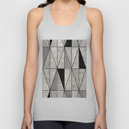Concrete Triangles Unisex Tank Top
