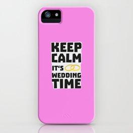 wedding time keep calm Bw8cz iPhone Case