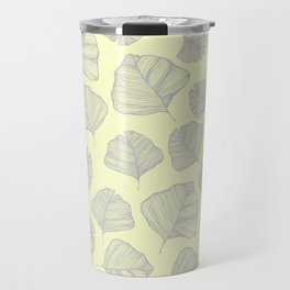 Yellow Ginkgo Leaves Travel Mug