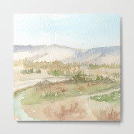 The Golan Heights - WC150615-12b Metal Print