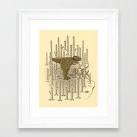 t rex Framed Art Prints featuring T-REX by Lucas Scialabba :: Palitosci