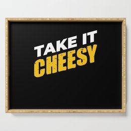 Take It Cheesy Food Milk Serving Tray