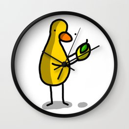 Lemon Drop Duck   Veronica Nagorny Wall Clock