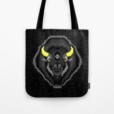 Geometric Bison Tote Bag
