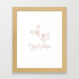 Happy Holidays on Peach Framed Art Print