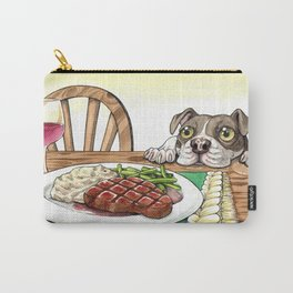 A Dog's Potential Steak Dinner Carry-All Pouch