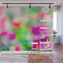 Abstract Colors Of A Summer Garden Wall Mural