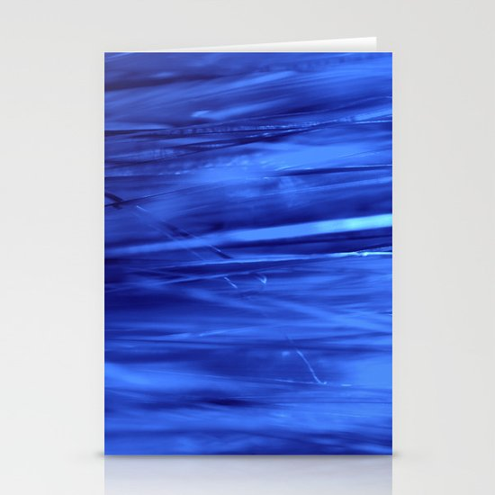 blue lines abstract I Stationery Cards