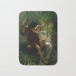 """Pierre Auguste Cot """"Springtime"""" Bath Mat"""