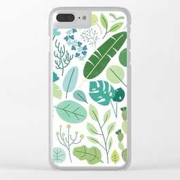 Botanical Chart Clear iPhone Case