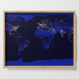 World Map Serving Tray