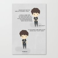 danisnotonfire Canvas Prints featuring don't be too hard on yourself - danisnotonfire by notlibbyrose
