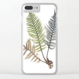 Ferns Clear iPhone Case