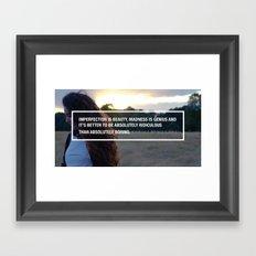 Imperfect Beauty Framed Art Print