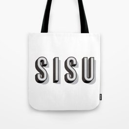 SISU - Finnish Word Tote Bag