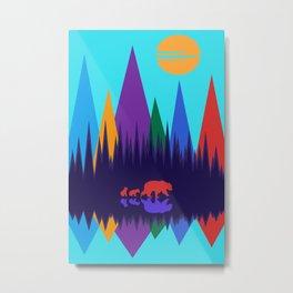 Bear & Cubs #3 Metal Print
