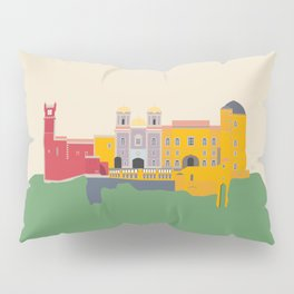 Pena Palace, Sintra, Portugal Travel Poster Pillow Sham