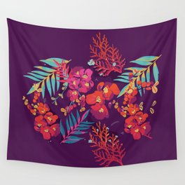flower party Wall Tapestry