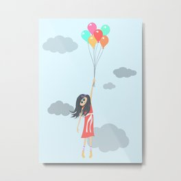 Floating Through The Clouds Metal Print