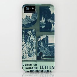Vintage poster - Lettland iPhone Case