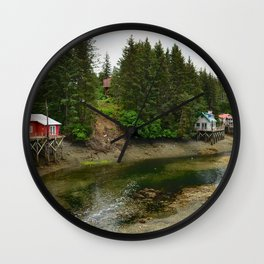 Seldovia Slough - Alaska Wall Clock