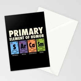 SArCaSm - Primary Element Of Humor Stationery Cards