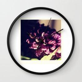 dry purple flower - 3rd Wall Clock