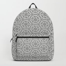 Going Round and Round - Stone Grey Backpack