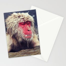 Hanging in the hot spring Stationery Cards