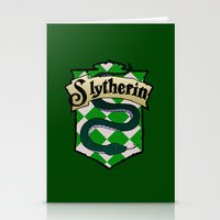 slytherin Stationery Cards featuring Slytherin Crest by AriesNamarie