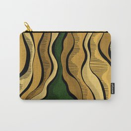 Golden Waves with Interrupting Green Carry-All Pouch