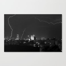 City Lightning Canvas Print