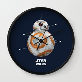 Low Poly BB-8 Wall Clock