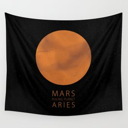 Aries - Ruling Planet Mars Wall Tapestry