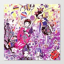 The case of purple spot sickness Canvas Print