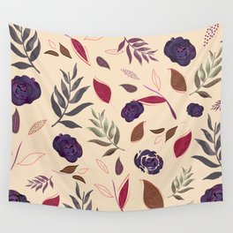 Simple and stylized flowers 19 Wall Tapestry